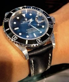 rolex strap black padded gunny store indonesia