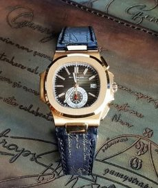 strap patek philipe custom tali jam tangan deep black gold scritto gunny indonesia