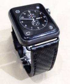 strap apple watch custom tali jam tangan carbon fiber gunny strap indonesia