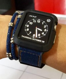 strap apple watch custom tali jam tangan denim gunny strap indonesia