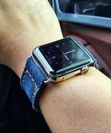 strap apple watch custom tali jam tangan denim wash gunny strap indonesia