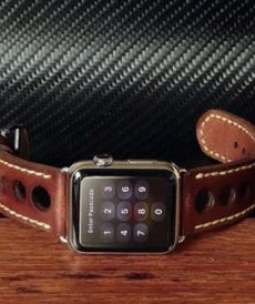 strap apple watch custom tali jam tangan le mans racer gunny strap indonesia