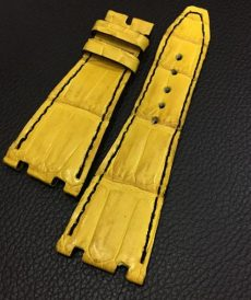 strap audemars piguet custom tali jam tangan ap croco yellow black gunny strap indonesia