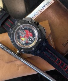strap audemars piguet custom tali jam tangan ap threesome blackred gunny strap indonesia