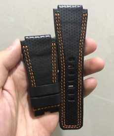 strap bell & ross custom tali jam tangan br black perforated gunny strap indonesia