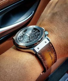 strap hublot custom tali jam tangan brown patina scritto gunny strap indonesia