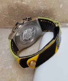 strap hublot custom tali jam tangan lime green canvas velcro gunny strap indonesia