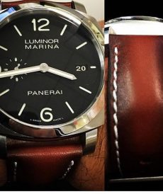 strap panerai luminor custom tali jam tangan deep red gunny strap indonesia