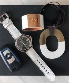 strap panerai luminor custom tali jam tangan white croco gunny strap indonesia