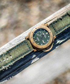 strap panerai submersible custom tali jam tangan canvas verte gunny strap indonesia