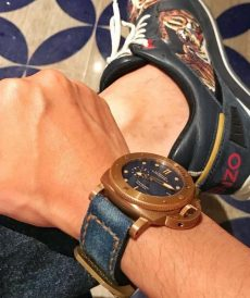 strap panerai submersible custom tali jam tangan denim wash gunny strap indonesia