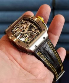 strap richard mille custom tali jam tangan black d. yellow hornback gunny strap indonesia