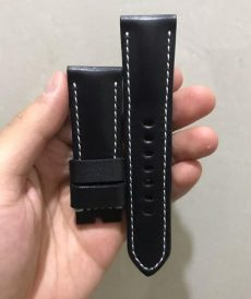strap seven friday custom tali jam tangan black padded gunny strap indonesia