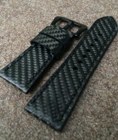 strap seven friday custom tali jam tangan carbon fiber black gunny strap indonesia