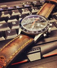 strap tag heuer custom tali jam tangan arillo padded and tapered gunny strap indonesia