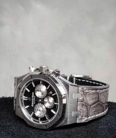 strap audemars piguet custom tali jam tangan grey croco royal oak gunny strap indonesia