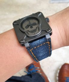 strap bell & ross custom tali jam tangan denim washed gunny strap indonesia